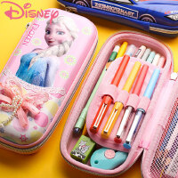 迪士尼笔袋女童大容量多功能小学生文具铅笔盒3-5年级1-3男儿童冰雪奇缘可爱女孩简约笔带韩国