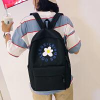 休闲书包女帆布印花个性双肩包新款中小学生校园电脑背包