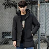 棉衣男冬季外套保暖面包服男韩版修身棉袄中长款男冬装男厚款