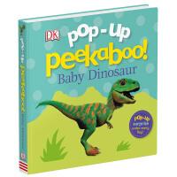 DK儿童书系列 恐龙立体书 Pop-Up Peekaboo! Baby Dinosaur 英文原版绘本 躲猫猫立体纸板书