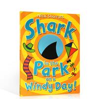 英文原版进口Shark in the Park on a Windy Day! 吴敏兰推荐同系列0-3-6岁