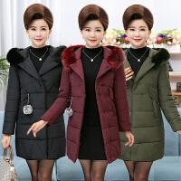 中老年人女装中长款羽绒妈妈装中年棉衣40-50岁冬装棉袄外套
