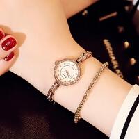 金米欧手表女士链条手链表淑女小巧个性简约时尚装石英表腕表6109