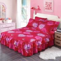 防滑床裙单件全棉双层花边床罩纯棉保护套韩式公主床单床笠