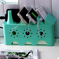 电线收纳盒家用办公插座排插路由器手机充电器收纳盒电源整理盒