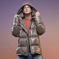 【1件2.5折到手价:502.5】美特斯邦威羽绒服新款冬季潮流韩版保暖大口袋羽绒外套男潮
