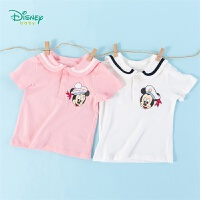 【99元3件】迪士尼(Disney)童装 男女童T恤纯棉翻领短袖2020年夏季新品儿童休闲上衣