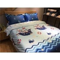 纯棉儿童床上用品四件套 全棉男孩男童卡通床品床单被套1.2m1.5米 海角七号 枕套花色随机剪裁