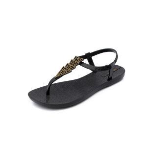 ELEISE美国艾蕾莎新品113-L825韩版塑料平跟女士凉鞋