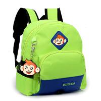 儿童书包幼儿园1-3-6岁男女童双肩包可爱宝宝小书包5岁防走失背包 A款小号绿色0-2岁 有胸扣防走失绳