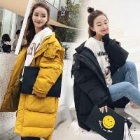 怀孕期厚棉衣冬孕妇韩版冬装外套宽松中长款棉袄女
