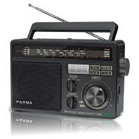 熊猫T-09全波段收音机老人便携式插卡歌曲卡收音机听戏机播放器台式半导体收音机老式收音机复古