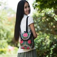 民族风绣花包包刺绣帆布学生韩版背包书包女士双肩包