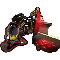 踏板摩托车改装配件彩灯激光射灯防追尾警示雾灯后尾灯led装饰灯