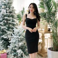 泰国潮牌2018春装新款性感吊带露肩无袖气质名媛收腰性感连衣裙