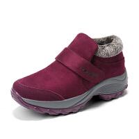 冬季老人棉鞋女妈妈保暖鞋加绒加厚户外运动雪地靴软底防滑健步鞋