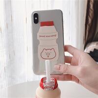 *肉完同款猪猪乳酸菌iPhoneXs max/xr透明7 8P 6S手机套 iPhone6/6S (4.7寸)