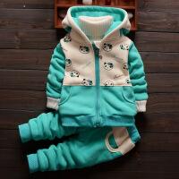 童装女童秋冬装1-3岁5金丝绒套装宝宝加绒加厚外套小孩婴儿棉衣服巴拉