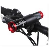 安全手电强光手电筒可充电超亮多功能远射迷你led灯变焦自行车骑行车前灯
