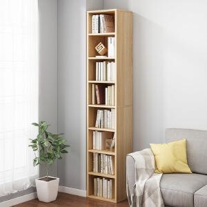柏易 环保加厚钢木书架展示柜单架 加深加厚小户型多层书橱组合书架置物架货架展示架