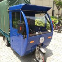 1米宽度蓝色电动三轮车驾驶室车头棚金彭雨棚宗申淮海车全封闭棚SN8314