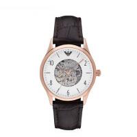 Armani阿玛尼时尚男士皮带手表 复古镂空机械表男AR1920