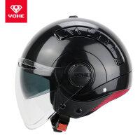 摩托车头盔电动车男女式半盔冬季个性酷防寒男女款四季安全帽