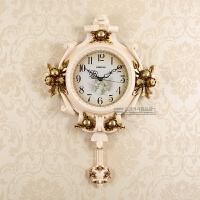 创意复古挂钟客厅墙壁现代个性艺术石英钟静音装饰简约欧式挂钟表 18英寸