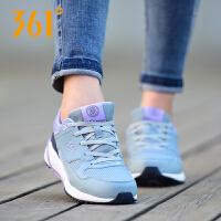 【折上1件5折 2件4折】361度女鞋秋季时尚多色拼接舒适透气防滑耐磨休闲运动跑鞋