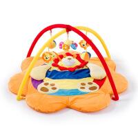 婴儿游戏垫狮子两款游戏毯爬行毯支架健身架爬行垫宝宝音乐玩具