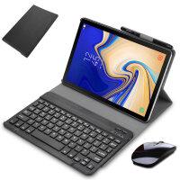 三星Galaxy TAB A 10.5英寸T590蓝牙键盘保护套 平板电脑T595C皮套T597壳送