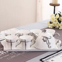 咖啡杯套装家用陶瓷欧式茶具茶杯简约下午茶茶具英式花茶杯套装礼