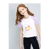 【3件2折价:89】笛莎童装女童套装2021新款夏装洋气女孩宝宝大儿童运动两件套衣服