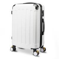 拉杆箱万向轮行李箱旅行箱子20寸男女密码登机箱包24寸28寸 升级款-时尚白 20寸