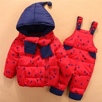 新款儿童宝宝羽绒服套装1-2-3岁婴幼儿冬装男女童