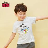 【99元3件专区】迪士尼米奇米妮系列童装男童夏装2020春夏新品短袖印花T恤衫