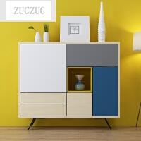 ZUCZUG北欧格调客厅储物柜组合柜子储物柜客厅家具装饰柜 图片色 双门