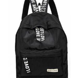 新款纯色帆布双肩包男女学院风旅行包书包学生背包
