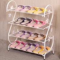 鞋架简易家用多层简约现代经济型铁艺宿舍拖鞋架子收纳小鞋架鞋柜o2e