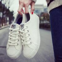 秋季新款帆布鞋女鞋学生布鞋韩版百搭板鞋夏季休闲平底小白鞋