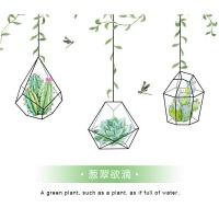 抽象植物磨砂办公室浴室卫生间推拉门透光不透明窗户玻璃贴纸贴膜