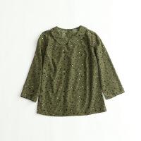 春款女衬衫 娃娃领7分袖甜美打底套头衬衣18E