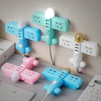 时尚新品创意智能小飞机炫彩USB多功能充电插座插排带夜灯接线板 m8y