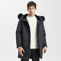 【5.16-5.17日抢购价:529.9】ME&CITY男长款派克时尚羽绒服