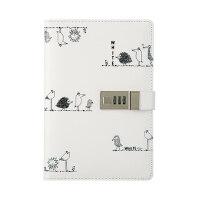创意手帐本学生多功能带锁密码本日记本笔记本文具本子加厚记事本