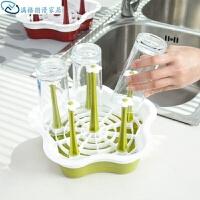 创意塑料沥水杯架 厨房置物架 玻璃水杯收纳架 挂架 杯子架