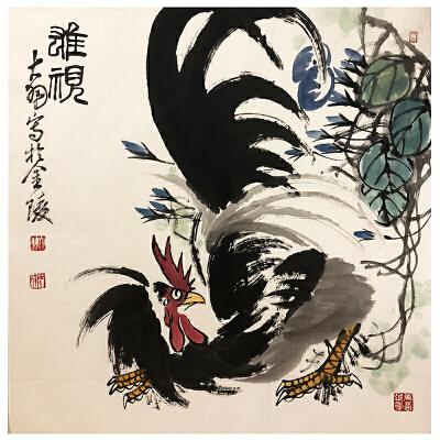 陈大羽《雄视》著名画家