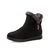 老北京布鞋棉鞋中年女冬季加绒加厚保暖短靴防滑雪地靴子妈妈棉鞋软底