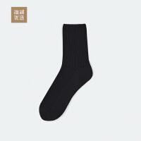 海澜优选中筒袜2018秋季新品男士透气简约棉质袜子