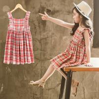 女童夏装新款韩版连衣裙儿童夏季吊带背心裙洋气女孩公主裙子